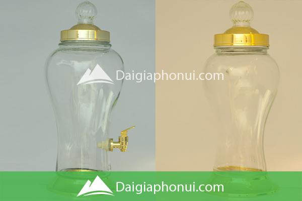 Bình Ngâm Rượu Việt Nam (Phú Hòa Glass) Hình Bầu Sâm - Dai Gia Pho Nui