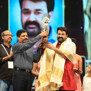 Mohan Lal -Best actor in Asianet Film Awards 2017