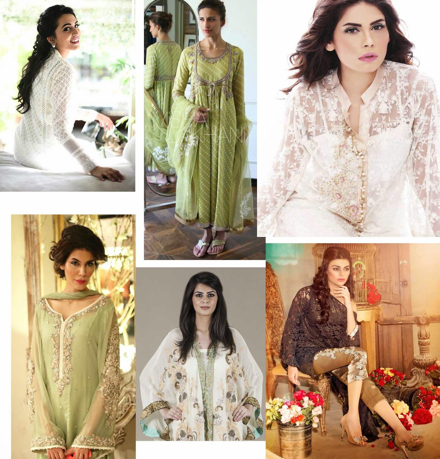 Pretty outfits from  Farah Talib Aziz, Misha Lakhani, Zara Shahjahan, Ayesha Somaya, Ayesha Farook Hashwani and Fahad Hussayn