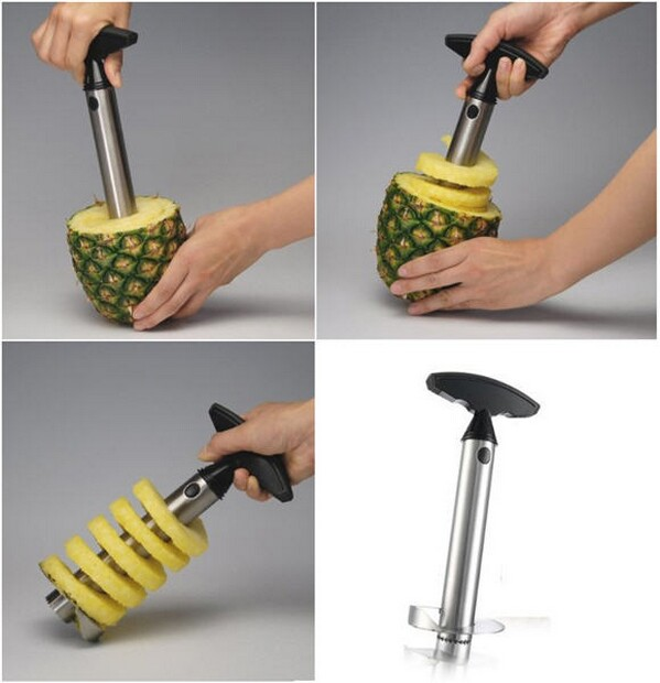 Stainless Steel Pineapple Easy Slicer, Peeler, Corer