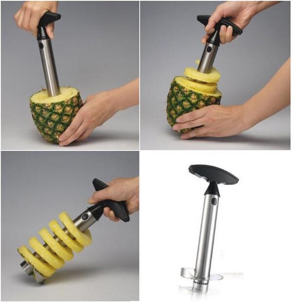 Stainless Steel Pineapple Easy Slicer, Peeler, Corer