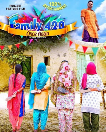 Poster Of Punjabi Movie Family 420 Once Again 2019 Full HD Movie Free Download 720P Watch Online