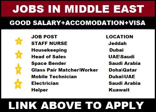 Offshore job Vacancies in Saudi Arabia\UAE\Dubai\Jeddah Apply Now
