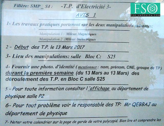 SMP S4 : Avis 1 TP Électricité 3