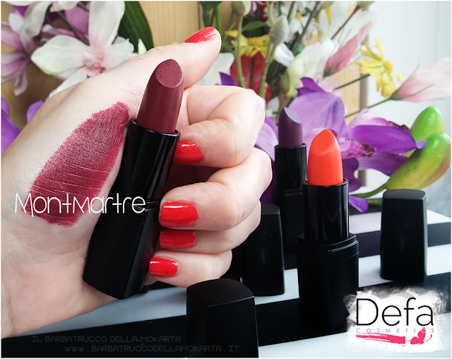swatches montmartre Defa cosmetics lipstick