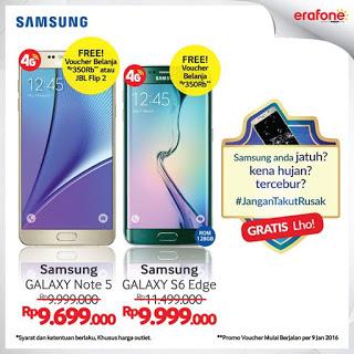 Samsung Galaxy S6 edge Bonus Voucher Belanja Rp 350.000 di Erafone