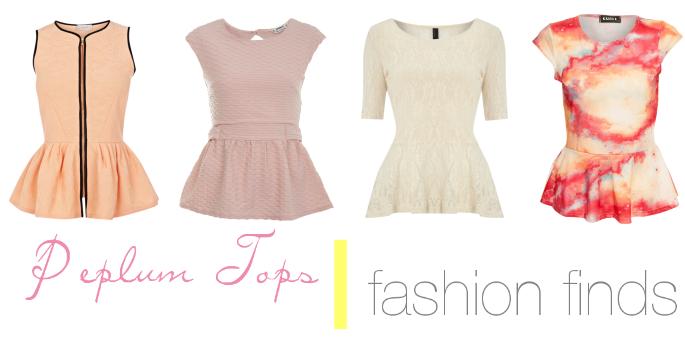 Fashion Finds | Peplum Tops