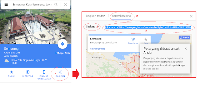 Embed Google Maps di Blog