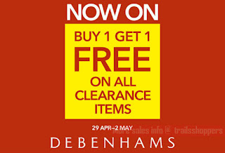 Debenhams Buy1 Free 1