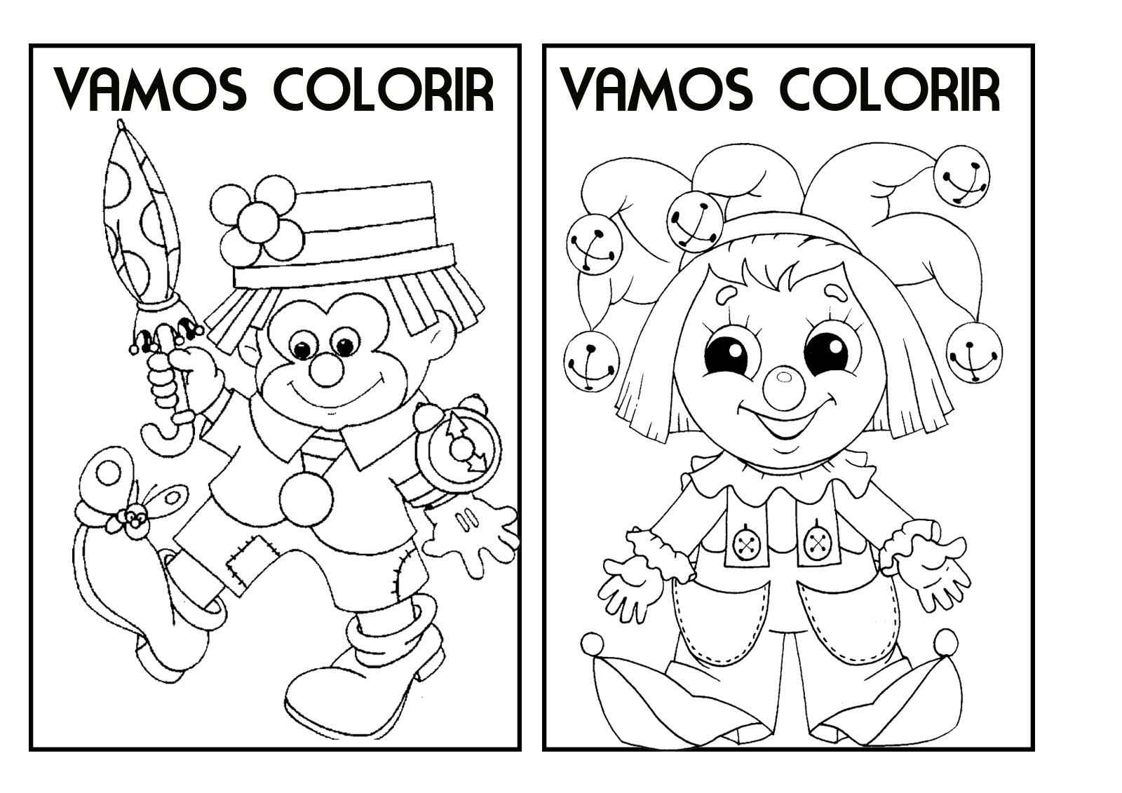Revista De Colorir Carnaval Com Muitos Desenhos Para Pintar