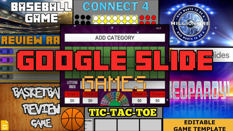 RoomBop Blog: 8 Google Slide Game Templates To Use In Your Class
