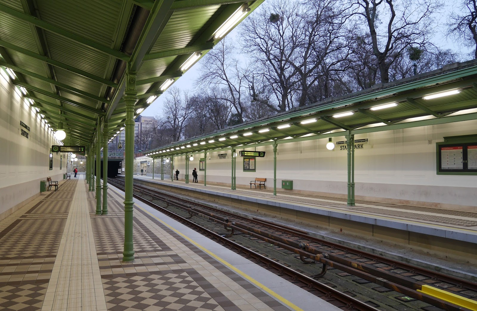 Stadtpark station in Vienna, Austria