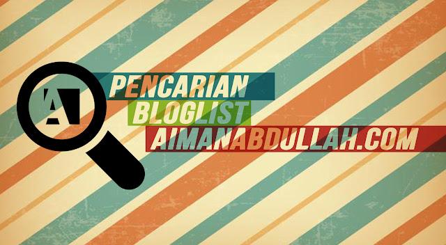 Pencarian Bloglist Di AIMANABDULLAH.COM