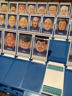 Playing Guess Who with Jesse
