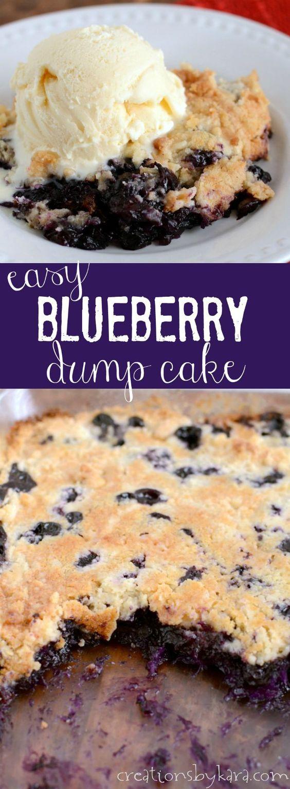 Blueberry Dump Cake #dessert #blueberry #dump #cake