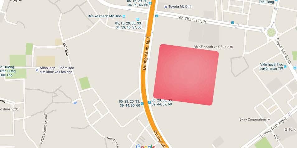 Vị trí dự án Tân Hoàng Minh Phạm Hùng