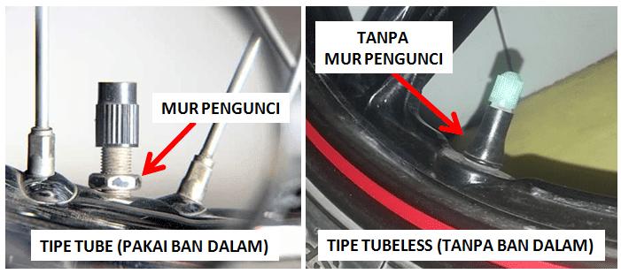 atau ban pecah saat berkendara bisa terjadi pada siapa saja Cara membedakan ban tubeless dengan ban tube