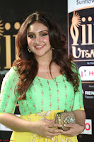 Sridevi Telugu Actressi in green Yellow Anarkali Dress at IIFA Utsavam Awards 037.JPG