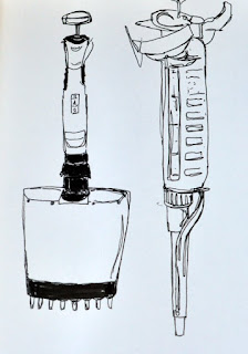 Ink sketch multichannel and pipette