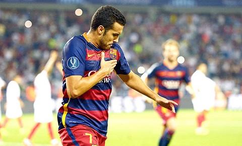 Pedro rất khát khao được ra sân và ghi bàn cho Barca