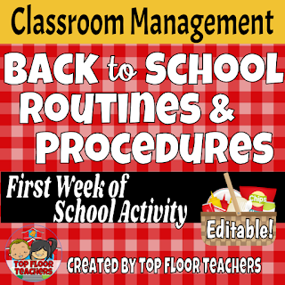 Editable Back to School Procedure Cards