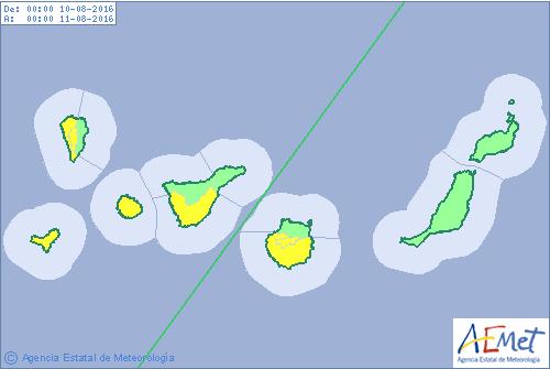 Calima y aviso por calor Canarias desde 9 agosto