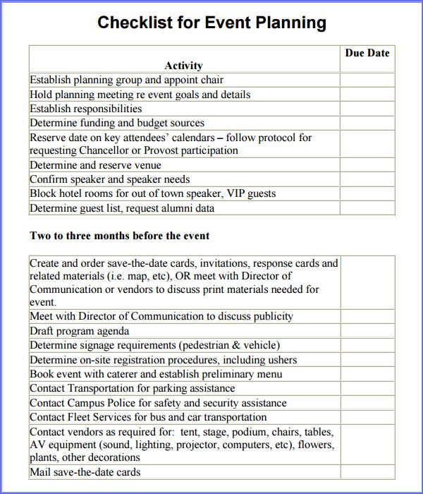 Template Example Free Event Planner Contract Template Template – Free Event Planner Template