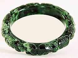 carved jade green bangle Chinese style