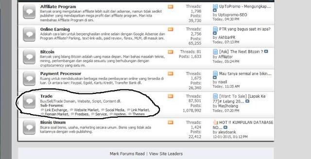 forum jual beli blog dan lelang artikel serta plugin