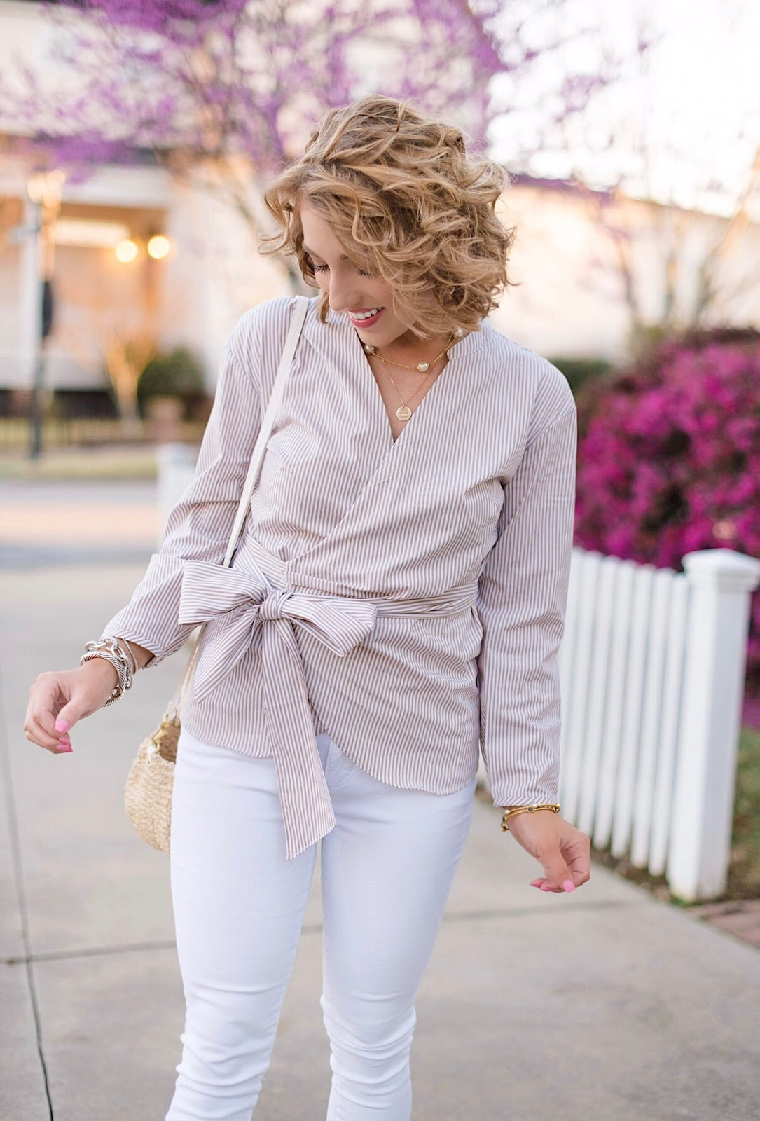 Spring Style J.Crew Wrap Top - Click through for the full post on Something Delightful Blog