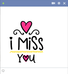Miss You Sticker