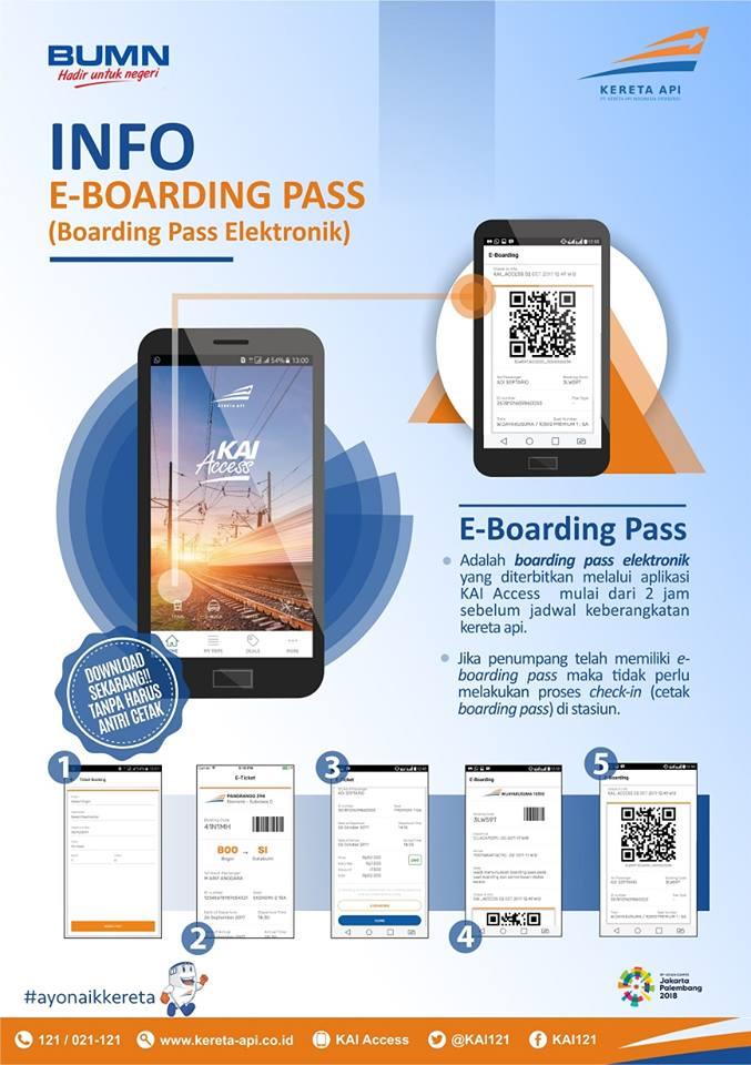 Pesan Tiket Kereta Pakai Cara Ini Tidak Perlu Cetak Boarding Pass