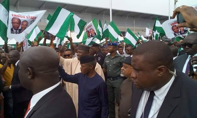 See How Enugu State Welcomed Vice President Osinbajo