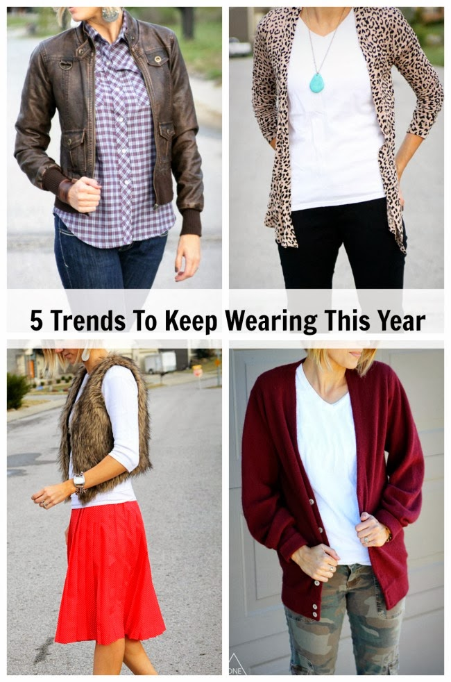 5 Trends to Keep Wearing This Year- it's not too late to try these ones out!