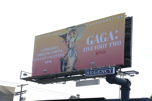 Gaga Five Foot Two Emmy FYC billboard