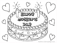 Mothers Day Cakes Printable Kids Coloring Pages