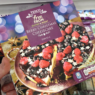 tesco free from berry christmas cheesecake