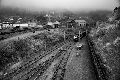 Vila de Paranapiacaba - Vista das linhas do trem
