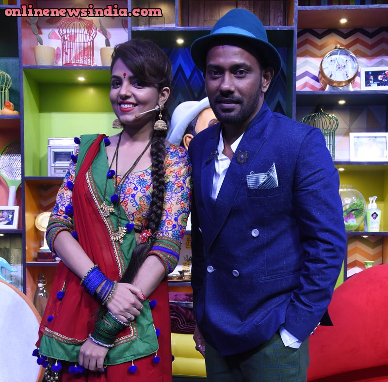 Dharmesh Yelande with Sugandha Mishra