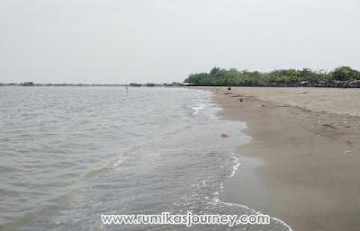 pantai tanjung pasir di tangerang banten sangat luas