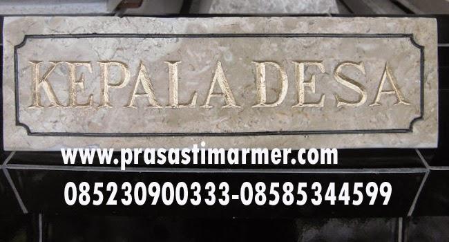 Papan nama pejabat | Papan Nama Marmer