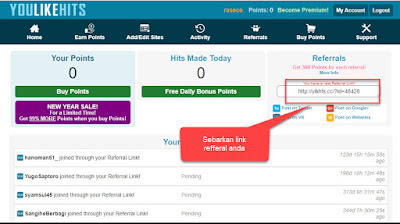 Tips Menambah Point di Youlikehits.com