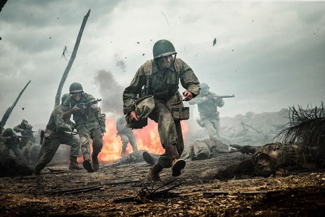 Mel Gibson's, Hacksaw Ridge, gory war scene, dead bodies, Andrew Garfield