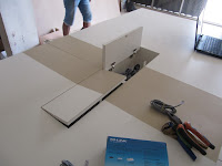 Meja Meeting Kantor Conference Table Electric & LAN Outlets