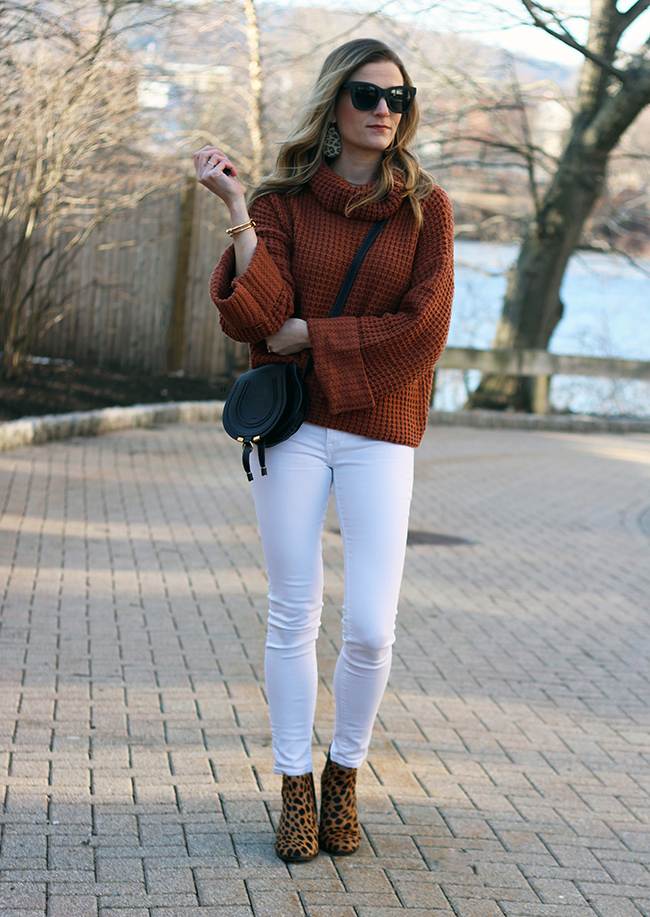 How to style your sweaters for spring #springsweaters #waffleknitsweater