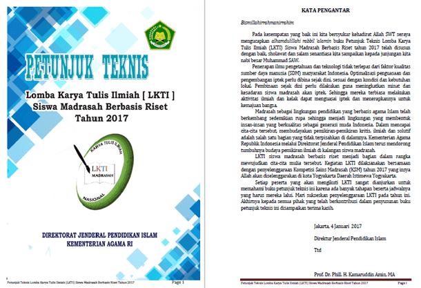 Juknis Lomba Karya Tulis Ilmiah Siswa Madrasah Berbasis Riset Tahun 2017