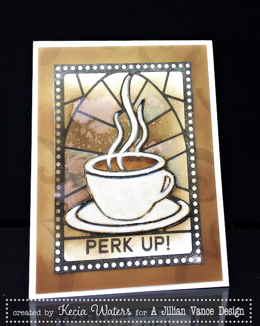 AJVD, Kecia Waters, Distress Ink, Cup of Love, Coffee