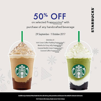 Starbucks Half Price Promo Mitsui Outlet Park KLIA Sepang