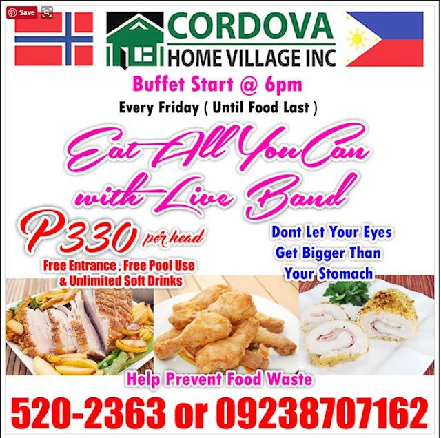 Cordova Home Village Eat all you can in Cebu
