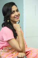 Actress Ritu Varma Pos in Beautiful Pink Anarkali Dress at at Keshava Movie Interview .COM 0273.JPG